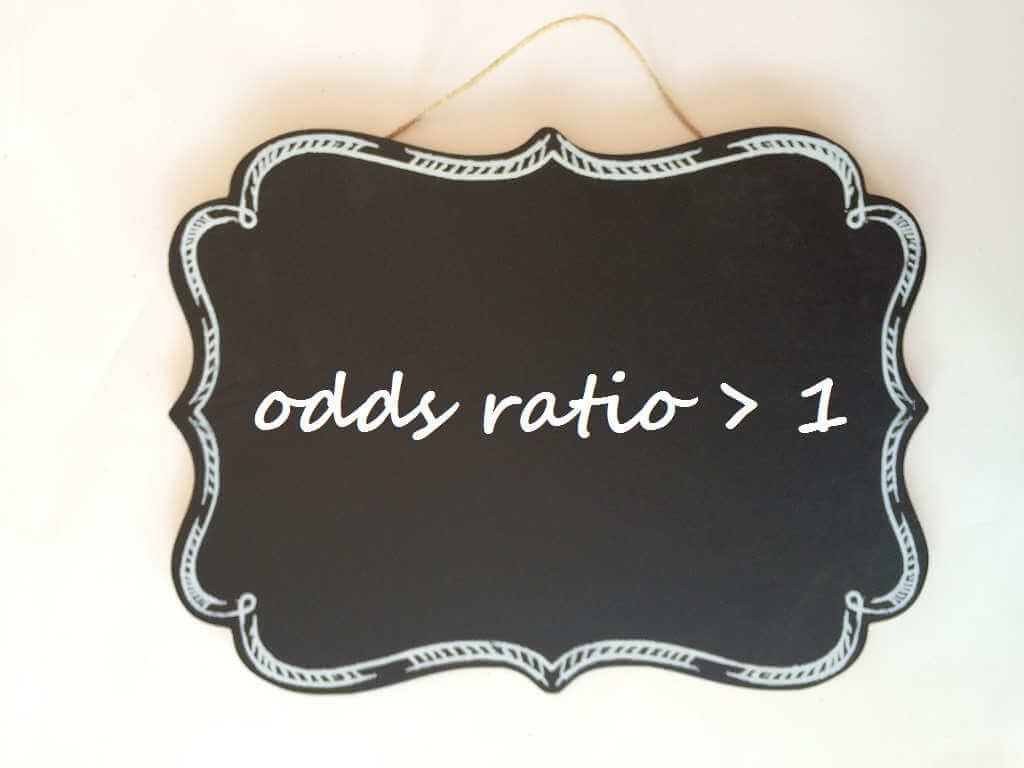 ¿Qué significa odds ratio mayor de 1?