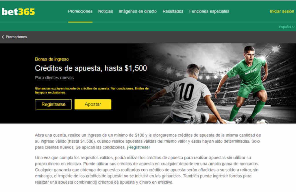 ¿Cuál es el bono de Bet365 México?